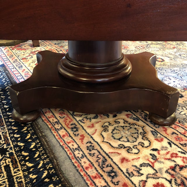 1900s British Colonial Mahogany Drop Leaf Table For Sale - Image 10 of 13