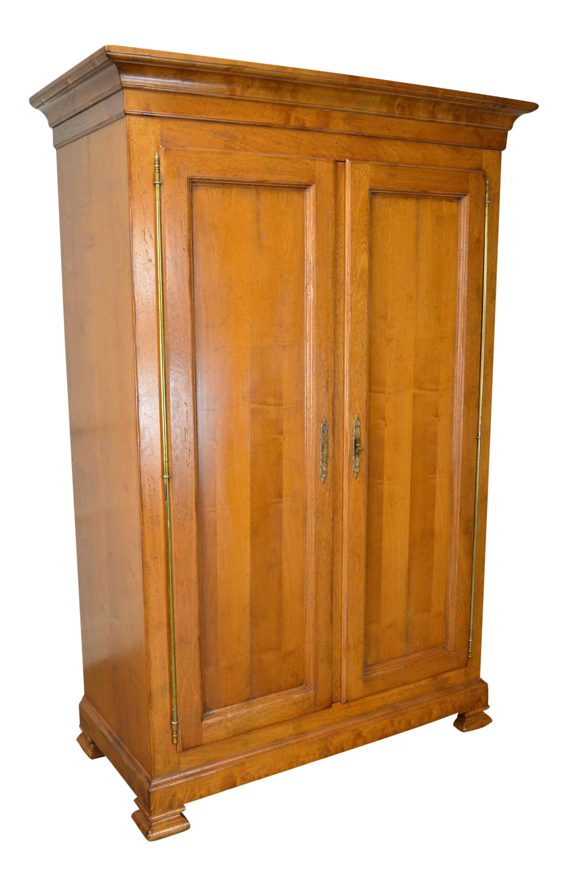 Baker Milling Road Large Distressed Maple 2 Door Armoire Cabinet
