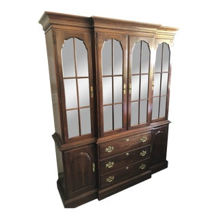 Knob Creek by Ethan Allen Illuminated Cherry Hutch For Sale