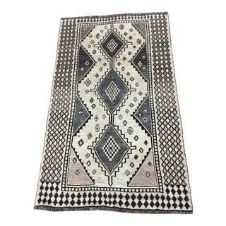 1980s Persian Gabbeh Rug - 4′8″ × 7′5″ For Sale