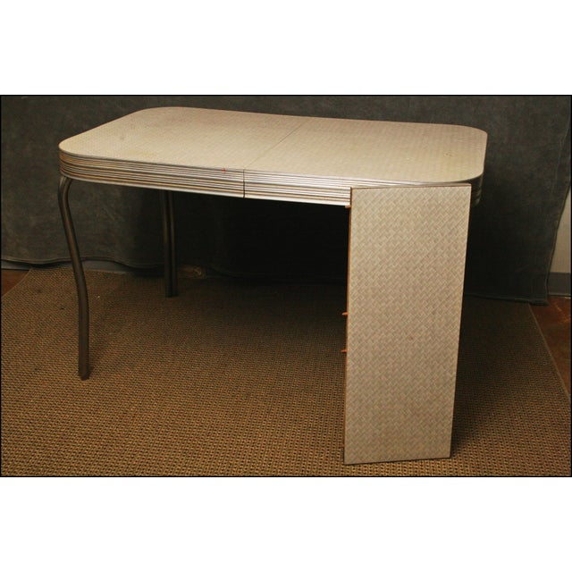 Mid-Century Modern White Formica Dinette Table - Image 3 of 12