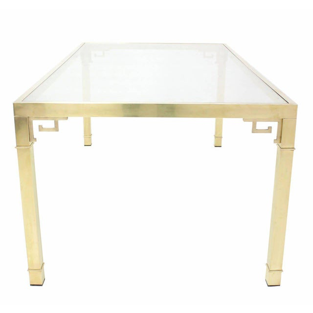 Mastercraft Mastercraft Solid Brass Dining Table For Sale - Image 4 of 9