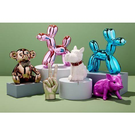 "2010s Interior Illusions Plus Pink Mini Balloon Dog Bank - 7.5"" Tall For Sale - Image 5 of 8"