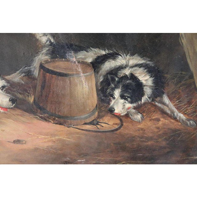 Late 19th Century 19th Century English Oil Painting on Canvas With Golden Frame by George Armfield For Sale - Image 5 of 13