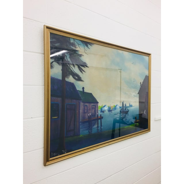 Original Framed Coastal Seascape Painting For Sale In Raleigh - Image 6 of 11