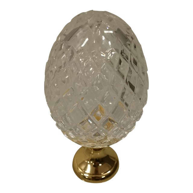 Crystal Newel on Brass Base - Image 1 of 4