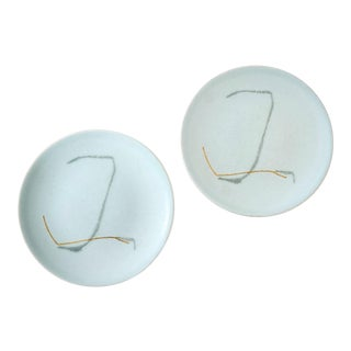 "Russel Wright ""Grass"" Pattern Side Plates - Pair"