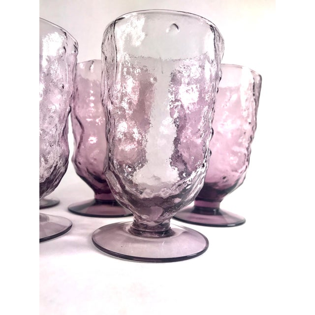 Beautiful plum purple glasses in wonderful condition. Each glass hold 13oz