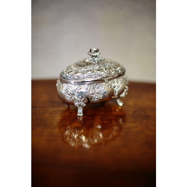 Metal Mid 20th Century Silver Sugar Bowl For Sale - Image 7 of 9