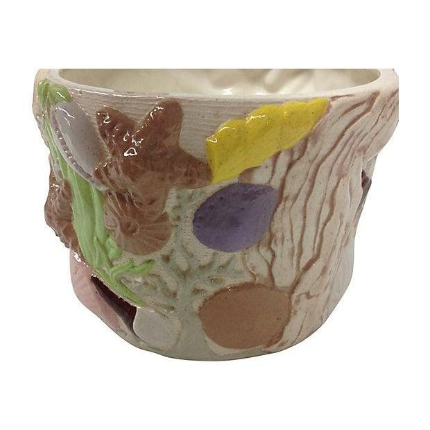 """Ceramic """"Under the Sea"""" Ceramic Planter For Sale - Image 7 of 10"""