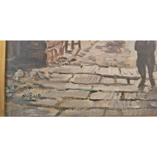 Asian Hiyashi NoBuo Oil on Canvas - Street Arch For Sale - Image 3 of 11
