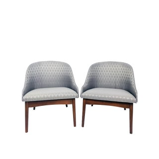 S. J. Weiner for Kodawood Bentwood Lounge Chairs - a Pair