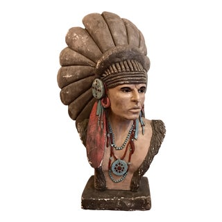 Large Native American Bust For Sale