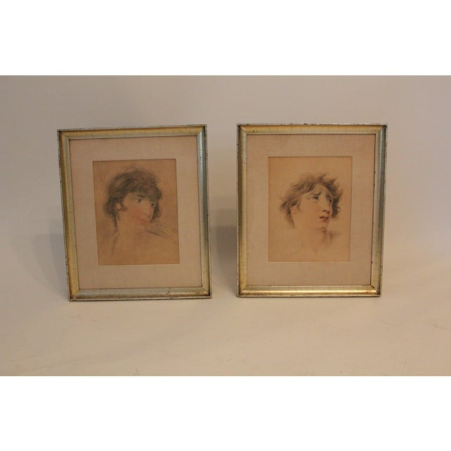 English Classical After Lawrence Portraits Paintings - Set of 2 For Sale In New York - Image 6 of 6