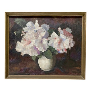Early 20th Century Vintage Still Life Oil Painting For Sale