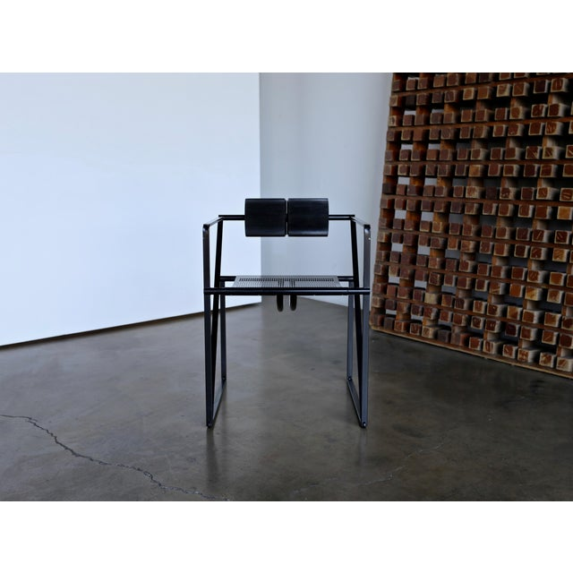 """Metal 1982 """"Seconda 602"""" Armchairs by Architect Mario Botta for Alias - Set of 6 For Sale - Image 7 of 13"""