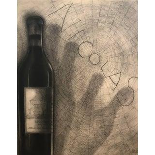 Original French Art Deco Paul Iribe Nicolas Print, Bottle + Spiderweb For Sale