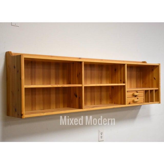 Brown Idé Møbler Solid Pine Hanging Bookshelf Cabinet Mid Century Modern For Sale - Image 8 of 8