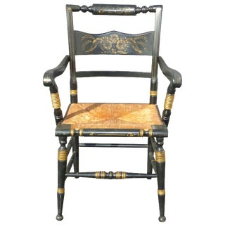 Tell City French Country Black & Gold Accent Chair For Sale