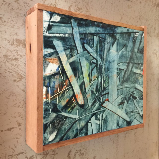 """""""Float"""" Oil Painting on Wood - Image 3 of 5"""
