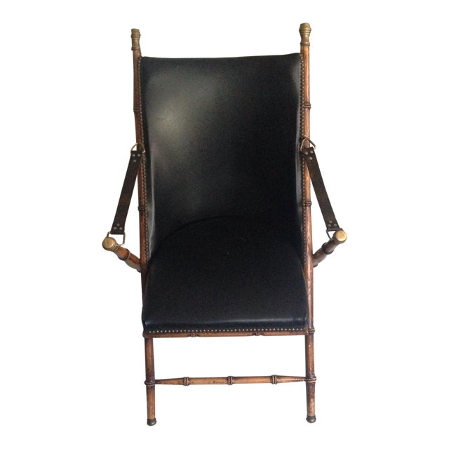 Antique Folding Campaign Chair - Image 1 of 5