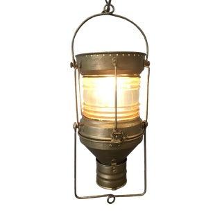 Vintage American Industrial Hanging Lantern
