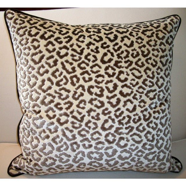 Lee Jofa High End Leopard Velvet Pillows - A Pair - Image 3 of 7