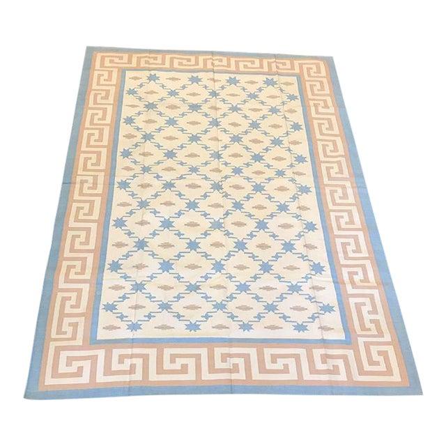 Handmade Flat Woven Kilim Rug - 6' X 9' - Image 1 of 5