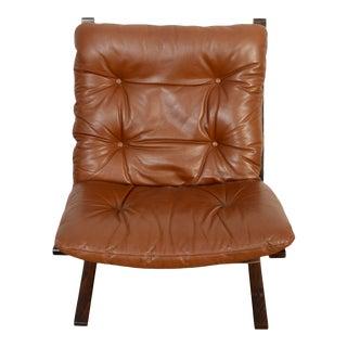 1980s Vintage Westnofa Siesta Leather Lounge Chair For Sale