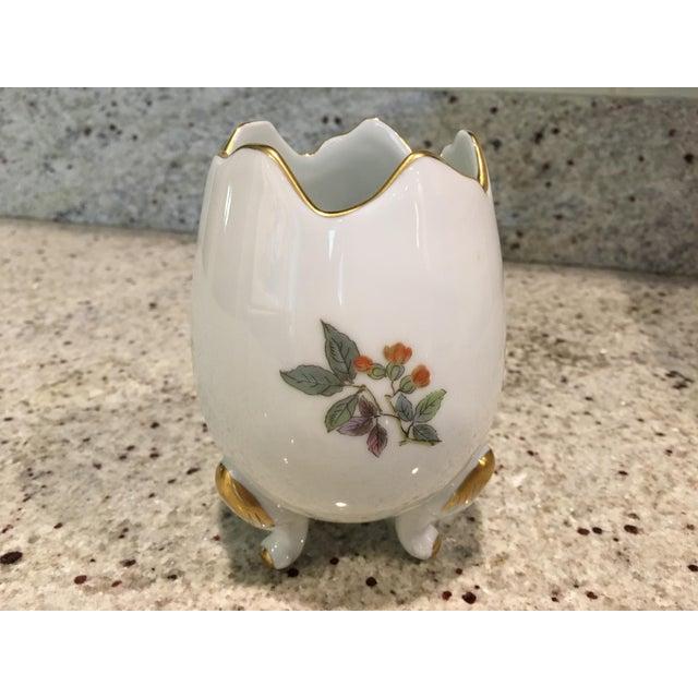 French Country Limoges Porcelain Egg Vase For Sale - Image 3 of 8