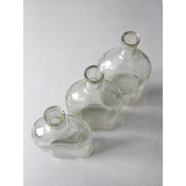 Antique Pyrex Apothecary Bottle Collection - - Set of3 For Sale - Image 6 of 9