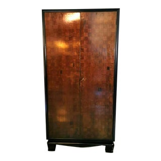 1938 Italian Art Deco Cabinet With Damier Decoration For Sale