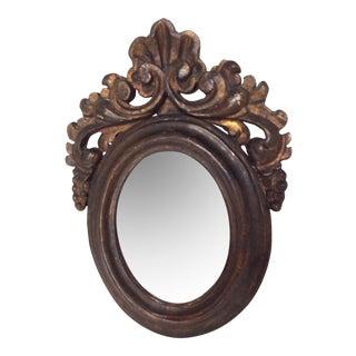 Antique Oval Rococo Mirror For Sale