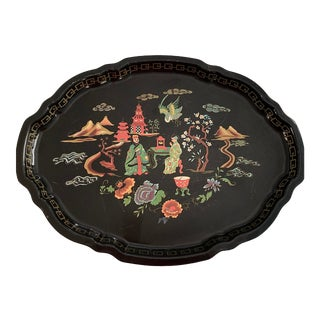 Chinoiserie Serving Tray For Sale