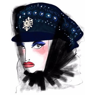 """Chloe in Chanel"" Limited Edition Print by Annie Naranian For Sale"