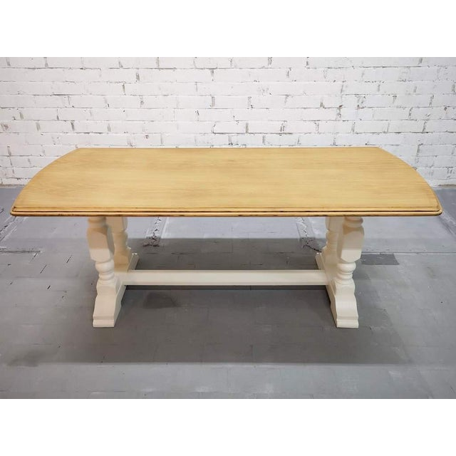 Vintage Restored Like New French Farmhouse Trestle Dining Table Boho Chic For Sale - Image 11 of 11