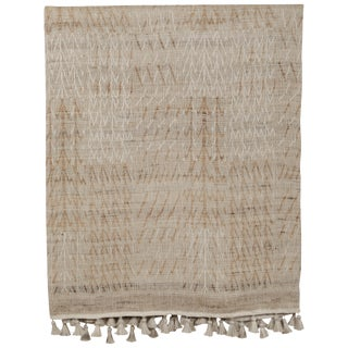 Indian Handwoven Bedcover Tree Natural For Sale