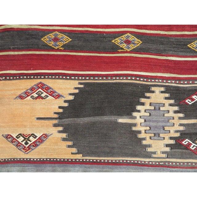 1960s Vintage Turkish Kilim Rug For Sale In Raleigh - Image 6 of 12