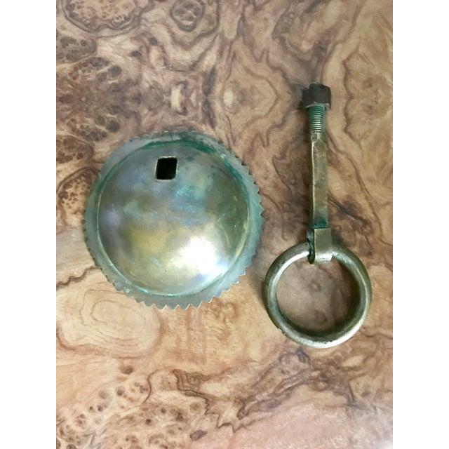 1920s 1920's Solid Brass Door Knocker For Sale - Image 5 of 7
