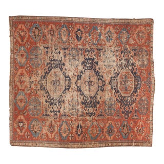 "Antique Soumac Fragment Square Carpet - 7'1"" x 7'11"""