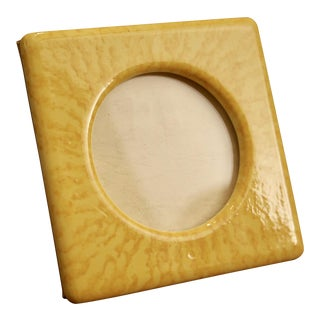 Fitz and Floyd Yellow Glazed Ceramic Picture Frame