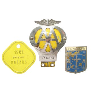 European Auto & Bicycle Badges, S/3 For Sale