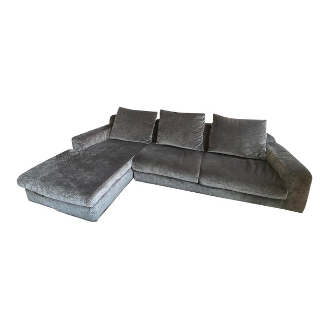 "Italian Contemporary Upholstered Sofa Sectional ""LeClub"" by Massimiliano Mornati for Jesse Furniture For Sale"