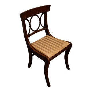 Tell City Furniture Mahogany Duncan Phyfe Dining Side Chair For Sale