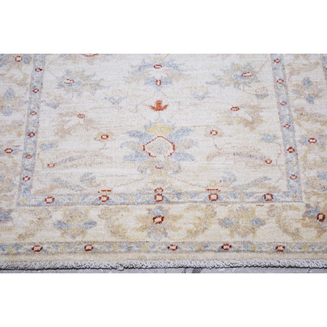 "Vintage Turkish Anatolian Oushak Hand Knotted Organic Wool Fine Weave Rug,2'6""x11'2"" For Sale - Image 4 of 6"