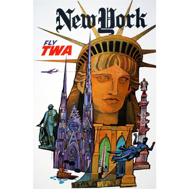 Vintage Reproduction New York Travel Poster - Image 2 of 3