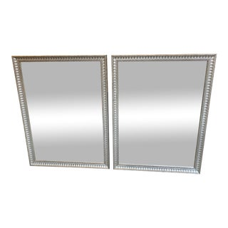 Mid-Century Modern Silver Mirrors - a Pair For Sale