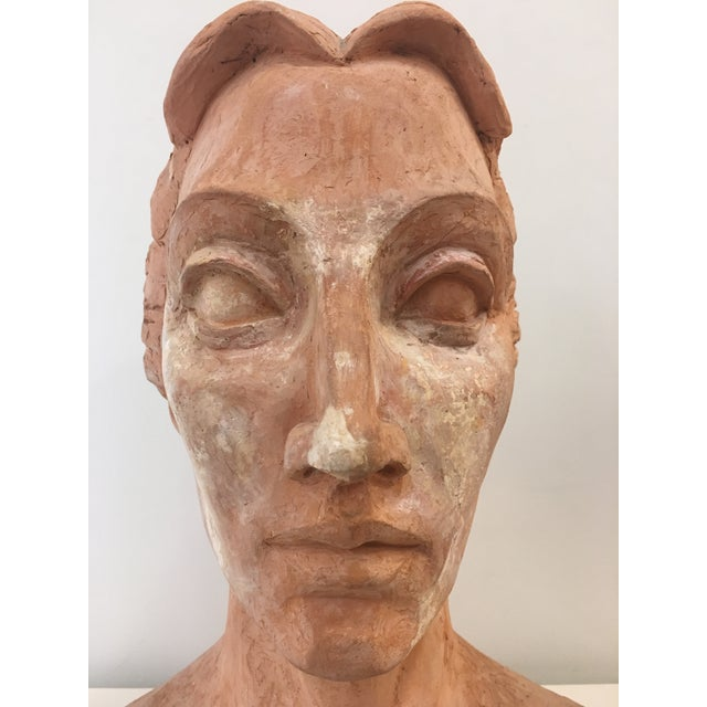 Abstract Expressionism Vintage Plaster Female Bust For Sale - Image 3 of 13