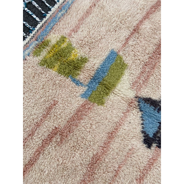 2010s Moroccan Pink Wool Rug For Sale - Image 5 of 7