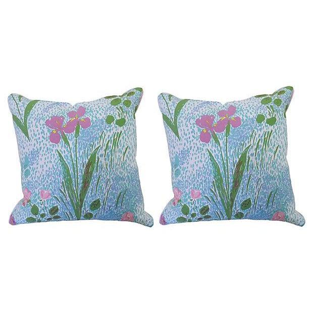 Pair of Paule Marrot Brunschwig Fils Custom Pillows For Sale - Image 13 of 13